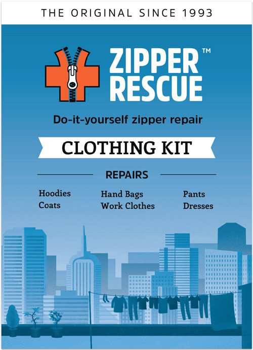 Kit zipper rescue do it yourself zipper repair kit for clothing and accessories solutioingenieria Image collections