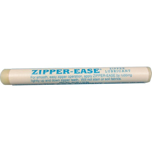 Wax zipper lubricant
